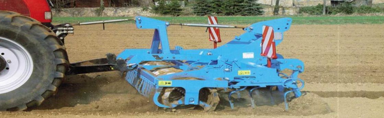 Агрегат для предпосевной обработки почвы Кварц в работе