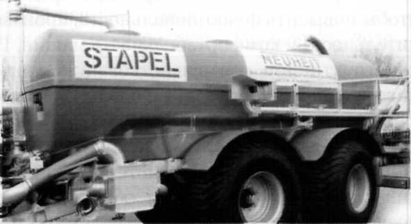 Цистерна для внесения ЖОУ из полиэфира фирмы «Stapel»