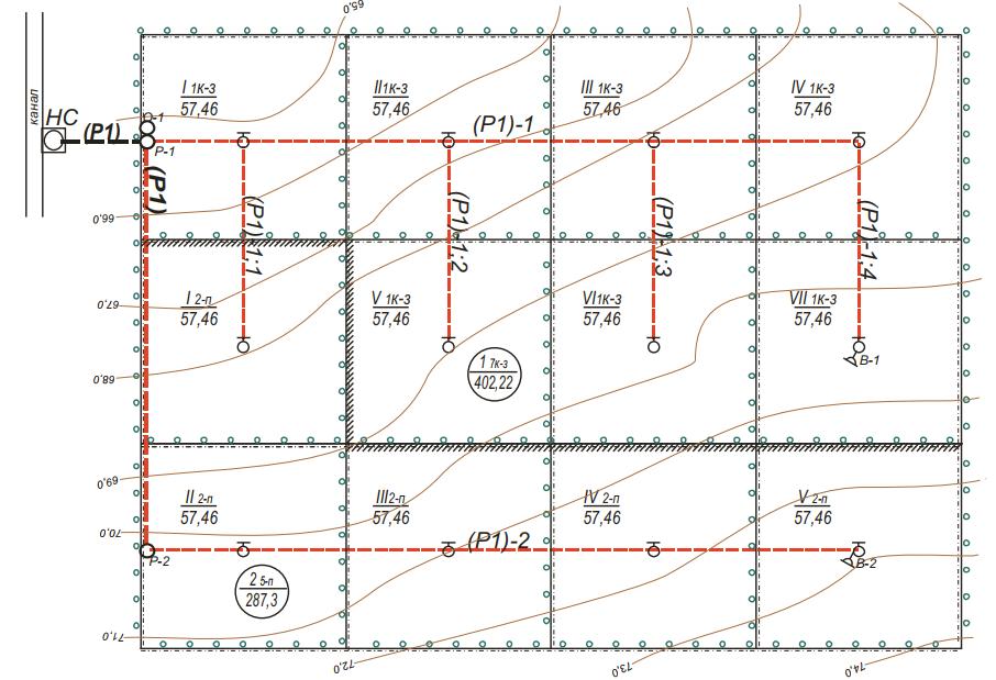 двухсевооборотный (5-ти и 7-мипольный) орошаемый массив по ДМ «Фрегат»