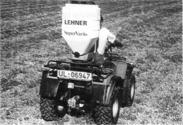Электроуправляемый навесной разбрасыватель удобрений Super Vario фирмы «Lehner»
