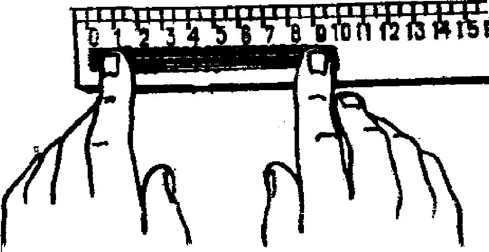 Измерение естественной длины шерсти