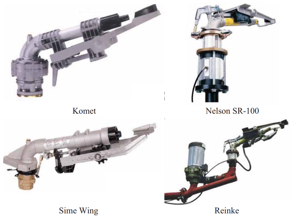 концевые дождеобразующие аппараты для широкозахватных дождевальных машин ведущих зарубежных фирм