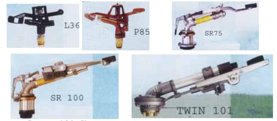 Концевые дождевальные аппараты, используемые на дождевальных машинах «Zimmatic»