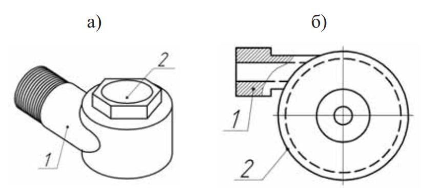 Общий вид и конструктивная схема центробежной насадки
