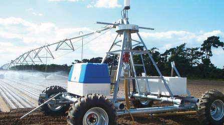 Общий вид универсальной дождевальной машины ОМЕГА семейства «Zimmatic»