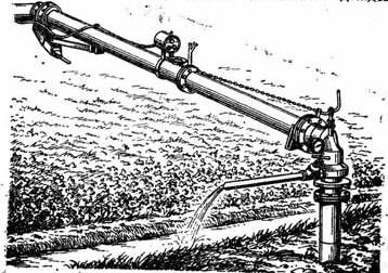 Общий вид водозаборного устройства дождевальной машины «Днепр»