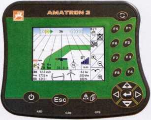 обзорный терминал управления AMATRON 3