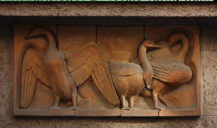 Памятник гусям в Риме