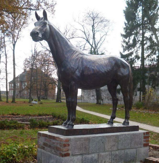 Памятник жеребцу Темпельхютеру тракененской породы