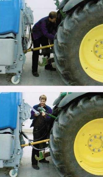 Порядок присоединения опрыскивателя к трактору