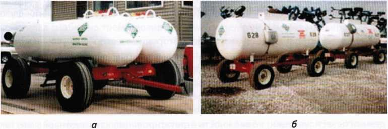 Сдвоенные и одинарные емкости для перевозки безводного аммиака