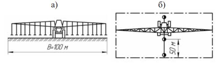 Схема и поливной модуль дождевальной машины ДИК-22