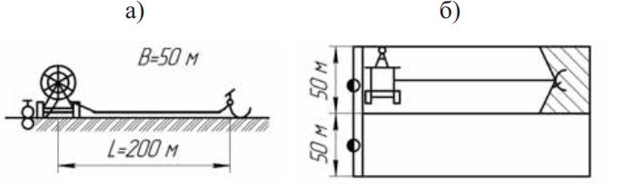 Схема и поливной модуль шлангового дождевателя КДП-1