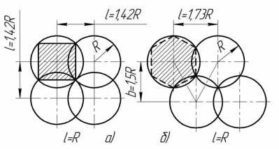 Схемы кругового полива дальнеструйными насадками типа ДДН
