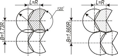 Схемы секторного полива дождевальными машинами типа ДДН
