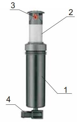 Турбодождеватель выдвижной Gardena T 200