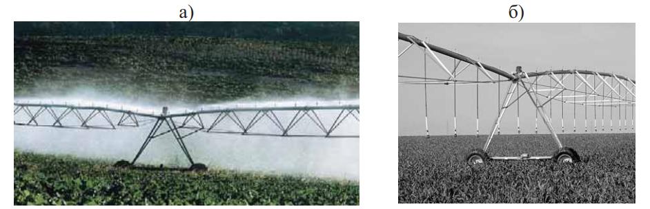 Виды дождевальных систем с надферменным и подферменным расположением дождевателей