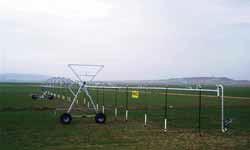Виды однопролётных дождевальных машин фронтального действия