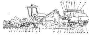 Технологический процесс работы комплекса зерноуборочного роторного КЗР-10 «Полесье-ротор»