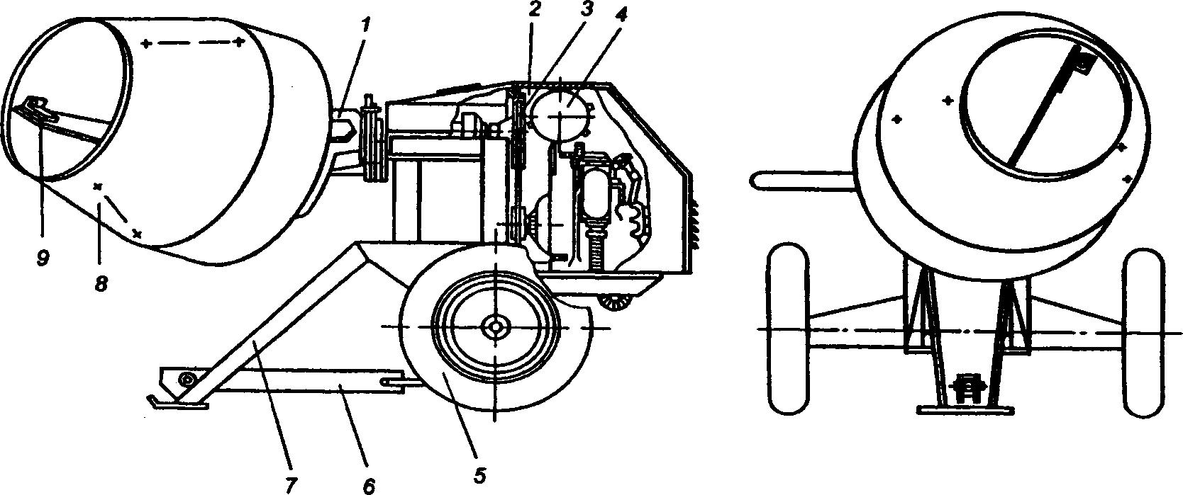 Бетоносмеситель СБ-116А