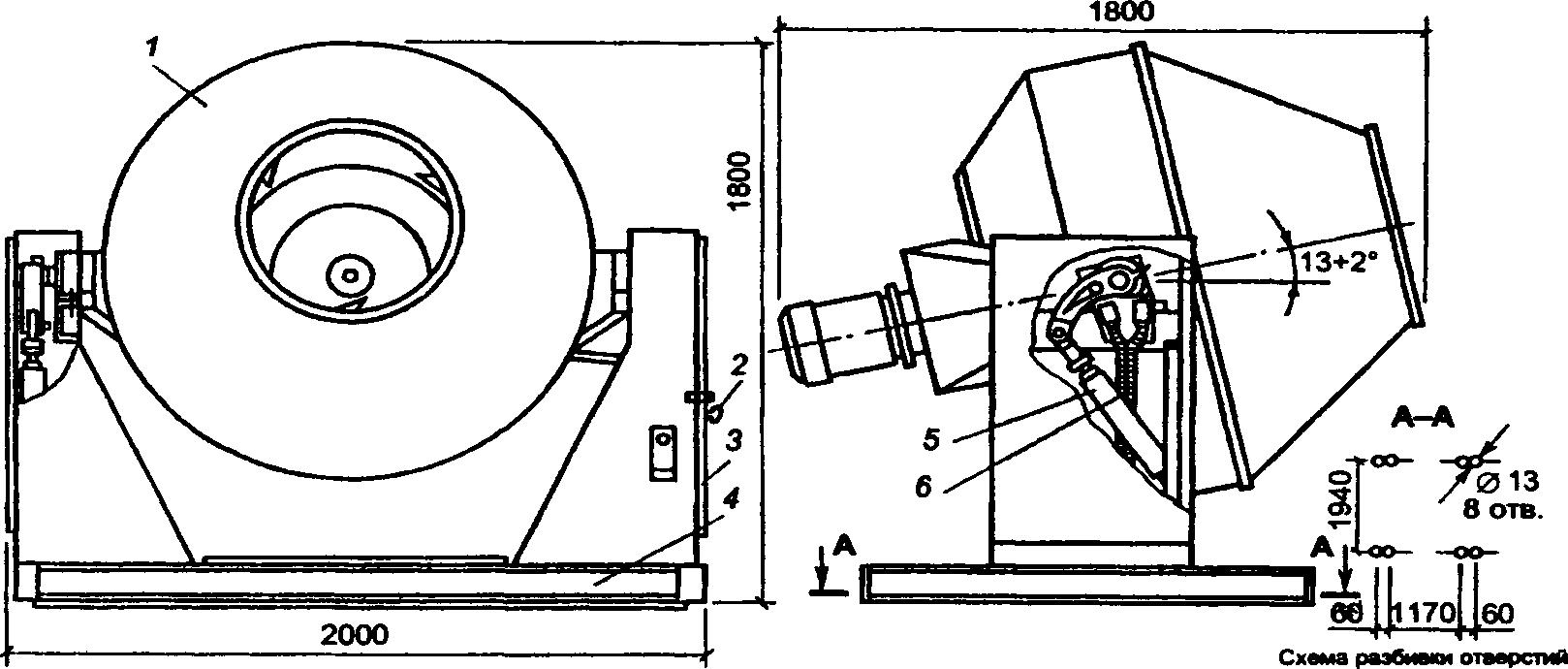 Бетоносмеситель СБ-91Б