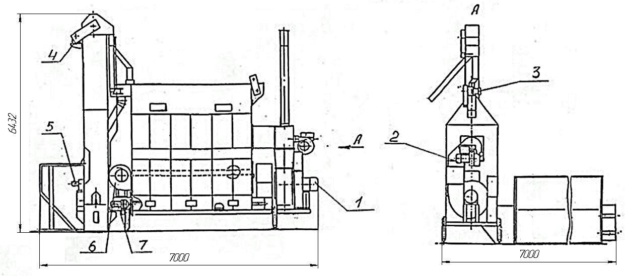 чертеж передвижной сушилки СПК-2,5