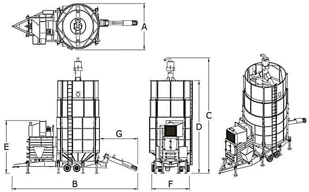 чертеж сушилки YGD-1840