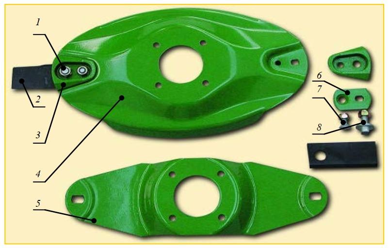 Детали ротора косилок фирм Claas и Krone