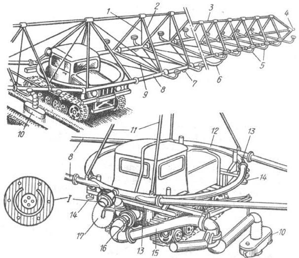 двухконсольный дождевальный агрегат ДДА-100МА