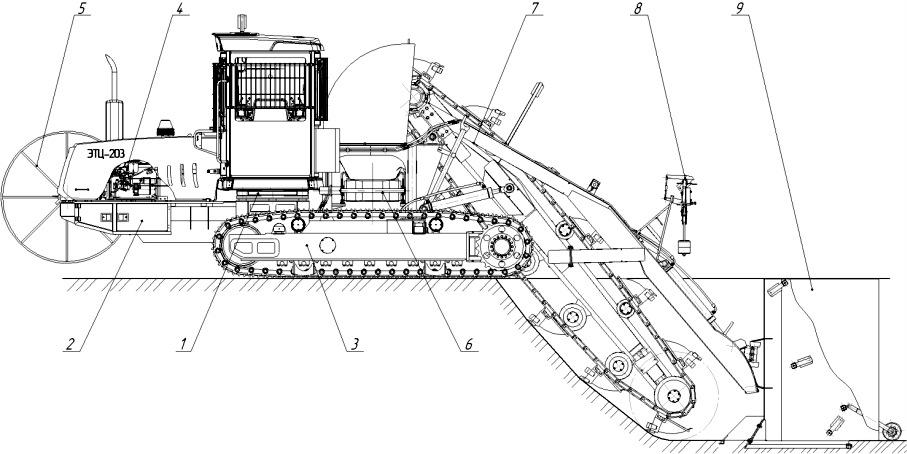 Экскаватор-дреноукладчик ЭТЦ-203
