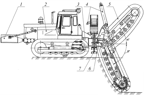 Экскаватор-траншеекопатель ЭТЦ-208