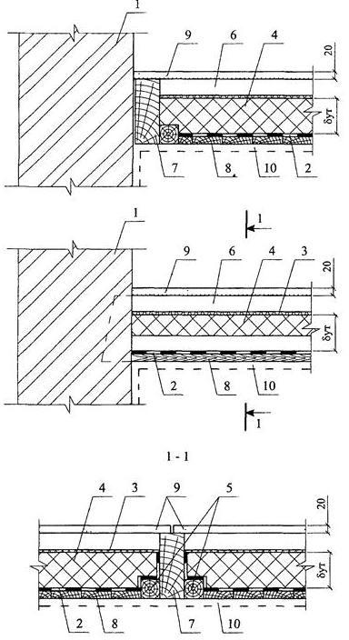 Элементы чердачного перекрытия по деревянным балкам