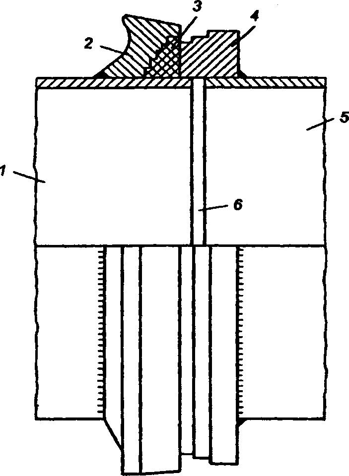 Фланцевое соединение двух звеньев