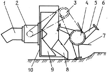 Фрезерно-роторный рабочий орган