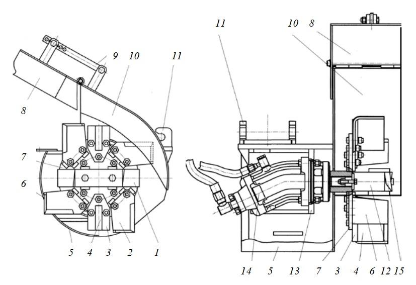 Фрезерный рабочий орган РММ-600 (КОРО-2)