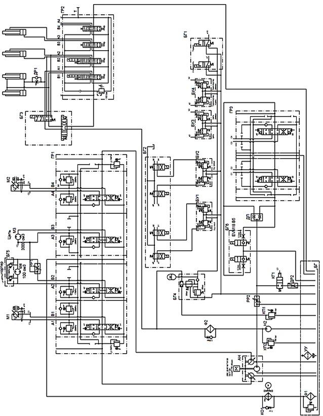 гидравлическая схема ЭТЦ-203