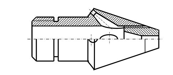 Головка с увеличенным углом наклона задних отверстий