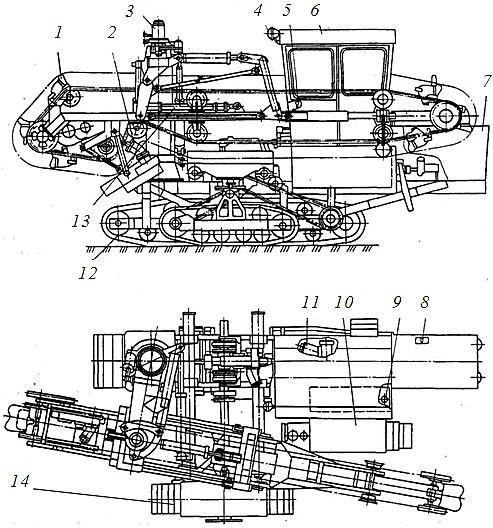 каналоочиститель МР-15 в транспортном положении