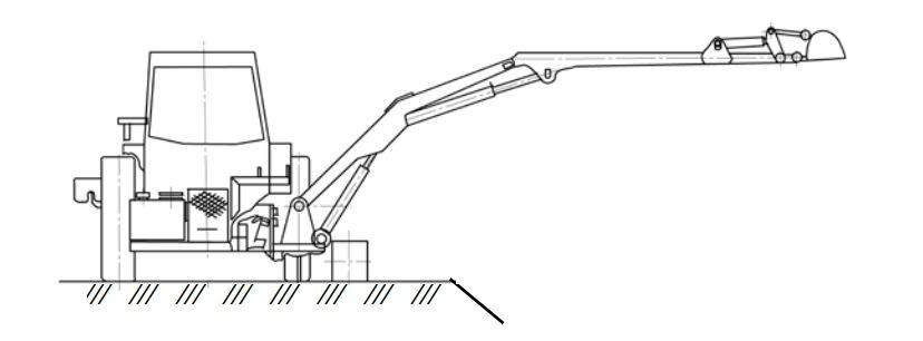 каналоочиститель с дополнительной боковой колесной опорой
