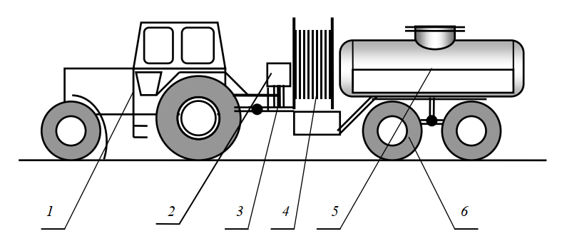 Компоновочная схема дренопромывочной машины ДП-10А