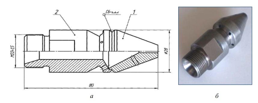 Конструкция реактивной головки машины УПД-120
