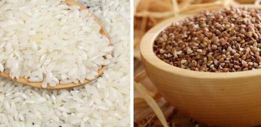 Крупы – рисовую и гречневую