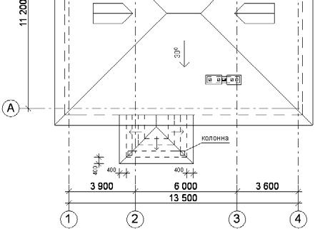 Крыша над крыльцом с трехсторонним расположением ступеней