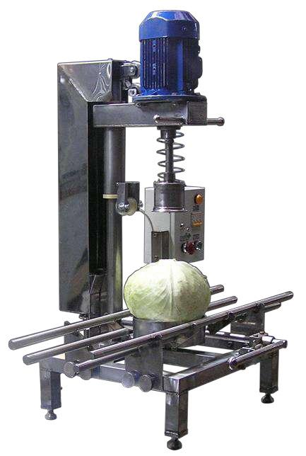 Машина для высверливания кочерыжек из капусты и отделения плохих листьев ВОС 219