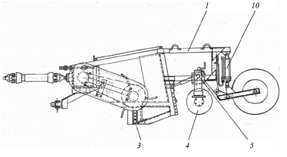 Машина роторная почвообрабатывающая МРП-2,1