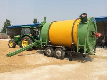 Мобильная барабанная зерносушилка