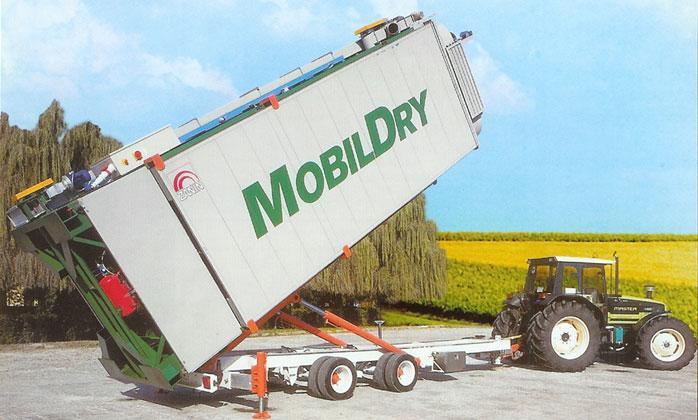 Мобильная опрокидываемая зерносушилка фирмы «Zanin»