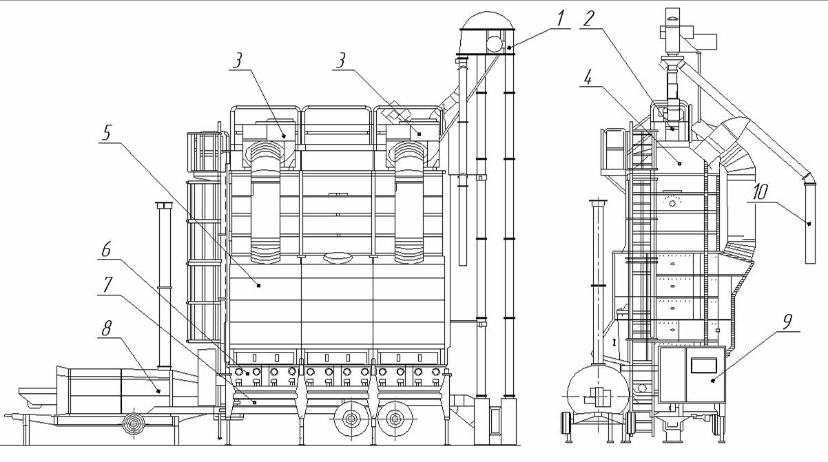Мобильная вакуумная зерносушилка М4500L