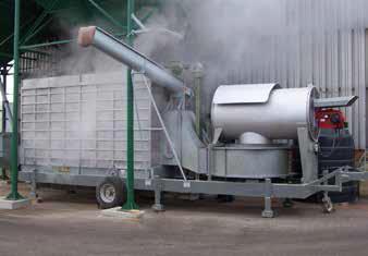 Мобильная зерносушилка MUF 45 в работе