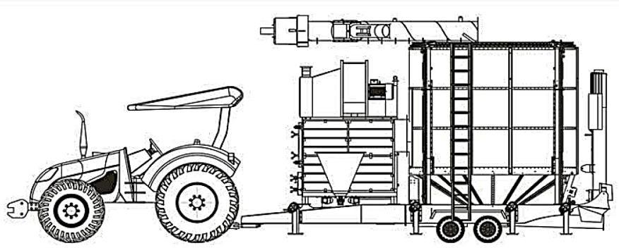 Мобильная зерносушилка YGD-1840